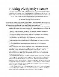 Portrait Photographer Resume Wedding Contract Dates And Timings 5 Free Wedding Photography