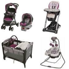 Graco Baby Swing Chair Graco Purple Baby Gear Bundle Stroller Travel System Play Yard