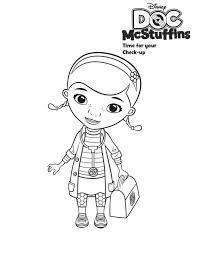 cute doc mcstuffins coloring netart