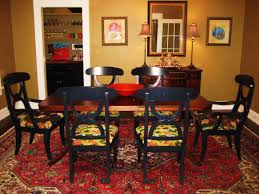 small dining table rugs rug set underneath of black wooden chairs