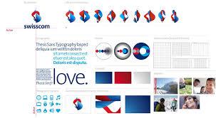 corporate design elemente swisscom brand center