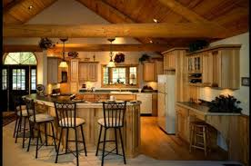 kitchen rustic kitchen brown ceiling fan one wall kitchen island