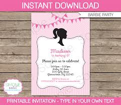 barbie party theme printables u0026 invitations barbie birthday