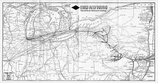 Ohio Railroad Map by The Lehigh Valley Railroad