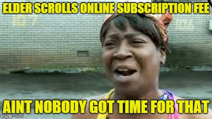 Elder Scrolls Online Meme - aint nobody got time for that meme imgflip