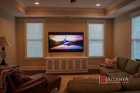 Home Theater Systems  Home Theater Installation Atlanta Newnan GA - Family room entertainment