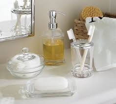 glass bathroom canister sets croscill bath mosaic bath