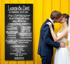 wedding program sign custom lettered chalkboard wedding sign menu or program by