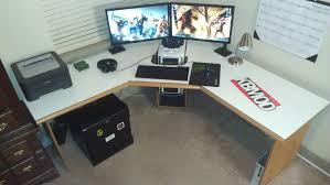 L Gaming Desk Gaming L Desk List Shaped Computer Home Office Or December 2017