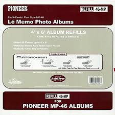 4x6 photo album refill pages pioneer album refill pages for mp 46 album 60 photos pages