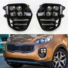 led fog light kit 2016 2017 sportage led fog l with foglight cover kit buy