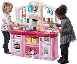 Step2 Party Time Kitchen by Just Like Home Fun With Friends Kitchen Pink Toys