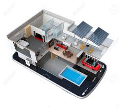 Energy Saving House Plans Energy Efficient House Equipped With Solar Panels Energy Saving