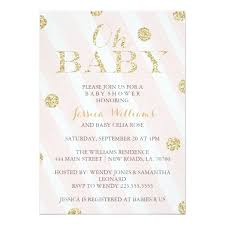 babyshower invitations blush pink and gold baby shower invitations zazzle