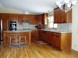 Bamboo Flooring Vs Hardwood Flooring Mesmerizing One Wall Kitchen Design Featuring White Modular And