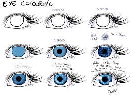 easy way to colour eyes easy paint tool sai by poka sorm on