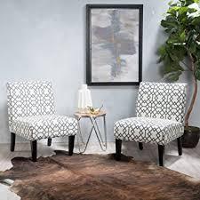 Geometric Accent Chair Amazon Com Kendal Grey Geometric Patterned Fabric Accent Chair