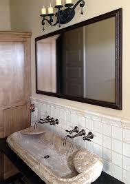 Bathroom Framed Mirrors by Wood Bathroom Framed Mirror For Austin Texas