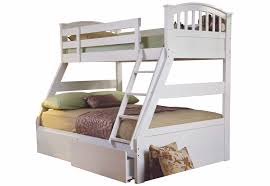 Sweet Dreams Epsom White Triple Bunk Bed Solid Wood Underbed - Dreams bunk beds