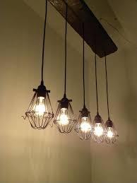 Pottery Barn Mason Jar Chandelier 5 Bulb Reclaimed Wood Chandelier Industrial Rustic Ceiling Light