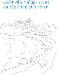 drawn scenic for kid scenery pencil and in color drawn scenic
