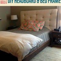Building A Headboard How To Build A Headboard And Bed Frame Homemade Beds Homemade