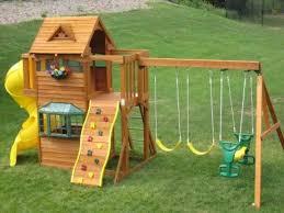Best Backyard Play Structures Best 25 Kids Swing Set Ideas Ideas On Pinterest Swing Sets For