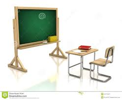 Classroom Computer Desk by Classroom Chair Desk And Blackboard Stock Illustration Image
