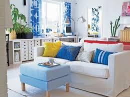 living room blue and green ideas with drum pendant lighting brown