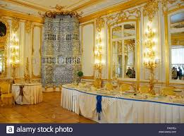 delft tile stove a dining room in catherine palace in tsarskoye