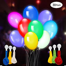 balloons shaped like light bulbs 30 pack led light up balloons premium mixed colors flashing party