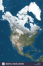 World Map Winter by Satellite View Of North America In Winter With Partial Snow Cover
