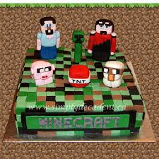 fondant minecraft birthday cake 3d figures steve creeper