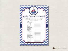 Free Printable Halloween Word Scramble by Nautical Baby Shower Word Scramble Nautical Word Scramble