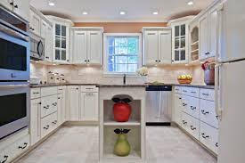 Kitchen Cabinet Recessed Lighting Design Ideas Cozy Kitchen Cabinets With Double Ovens And Tile
