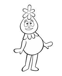 yo gabba gabba coloring pages foofa coloringstar