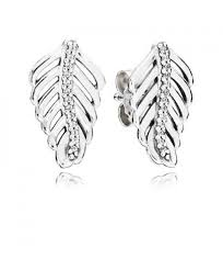 feather stud earrings cheap authentic pandora clear cz earrings online outlet sale