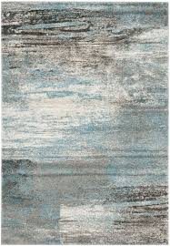 Blue Grey Area Rugs Safavieh Tahoe Tah479d Grey And Light Blue Area Rug Free Shipping