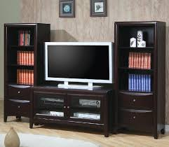 Entertainment Center With Bookshelves Furniture Cozy Wood Tile Flooring With White Baseboard And Cymax