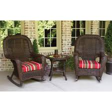 Outdoor Patio Rocking Chairs Tortuga Outdoors Lexington Resin Wicker Rocker Set Rocking Furniture