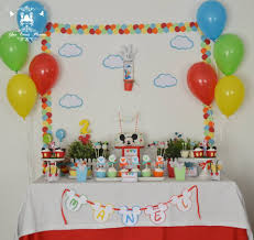 Mickey Mouse Table by Mickey Mouse Clubhouse 2nd Birthday Party Little Wish Parties