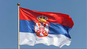 Flag Of Serbia As Kyiv And Belgrade Squabbled Over The Statement Of Ukrainian