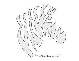tiger stripe stencil printable