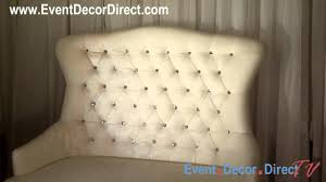 event direct decor event decor direct tv diamond studded white groom bench
