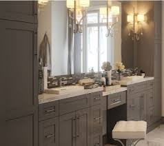 Shaker Style Vanities Grey Bathroom Vanity Custom Look On A Budget
