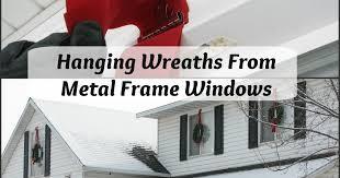 window wreaths my so called diy hanging wreaths from metal frame windows