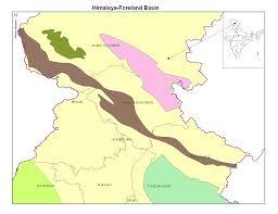 Himalayas On World Map by Himalayan Foreland Ndr National Data Repository India