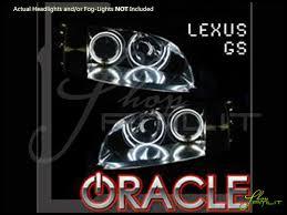 lexus logo lights oracle 93 97 lexus gs300 gs400 ccfl halo rings headlights bulbs