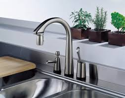 interior awesome kitchen sinks and faucets with potted herb