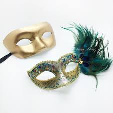 peacock masquerade masks golden peacock masquerade mask couples masquerade mask set